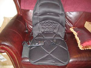 Homedics Electric Heating and Vibrating Massager Pad Home Office Car Chair