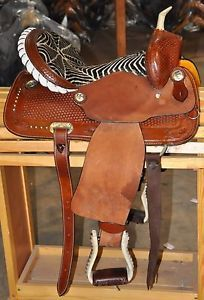 Zebra Barrel Racing Saddles