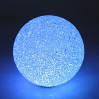 "4 8"" Color Changing Crystal Ball LED Night Light Lamp Gift Party Wedding Decor"