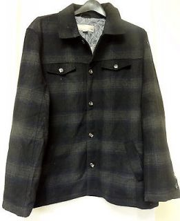 Mens Black Wool Jacket Large
