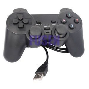 USB Gamepad Joypad Double Dual Shock Game Controller PC