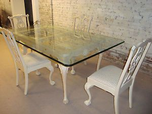 Lexington by Drexel Heavy Glass Top Table with 4 Chairs located in SW Michigan