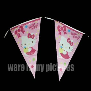 Sanrio Hello Kitty Birthday Party Supply 3 6M Banner Bunting Flag H163