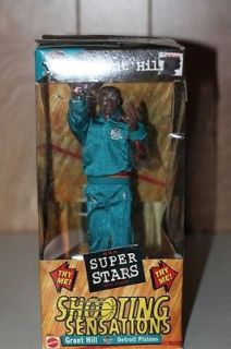 Detroit Pistons Grant Hill Shooting Sensations Super Stars NBA Action Figure