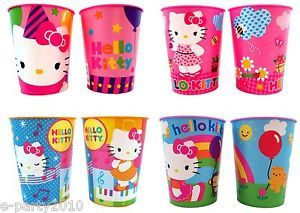8 Hello Kitty Reusable Plastic Keepsake Cups Birthday Party Supplies Favors