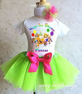 Bubble Guppies Molly Oona Birthday Girl Set Outfit Name Age Tutu 1st 2nd 3rd