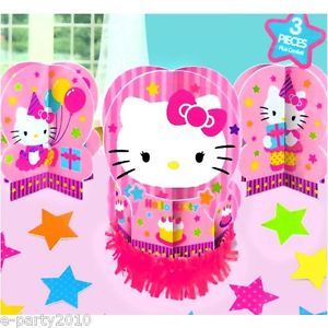 23pc Hello Kitty Birthday Table Decorating Kit Centerpiece Party Supplies