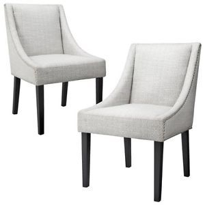 Griffin Nailhead Cutback Dining Chair Diamond Set of 2
