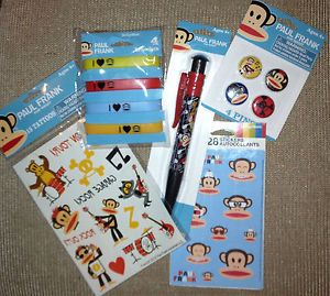 New Paul Frank Julius Lot Birthday Party Supplies Lip Smackers Stickers Pins