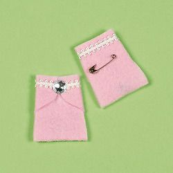 12 Pink Baby Diaper Pins Girl Baby Shower Decoration Game Party Favor Supply