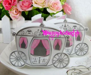 50pcs Love Carriage Wedding Party Favor Boxes Gift Box