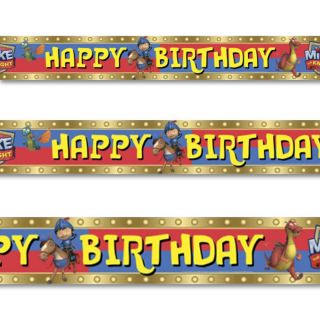4 65m Mike The Knight Medieval Happy Birthday Party Foil Banner Decoration