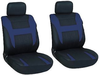 Black and Blue Car Seat Covers