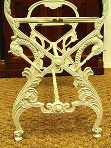 Bench Hollywood Regency Art Nouveau Swans Wrought Iron Chair Antique