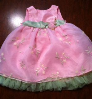 George Pretty Pink Baby Girl 3 6 Month Dress Spring Summer Easter