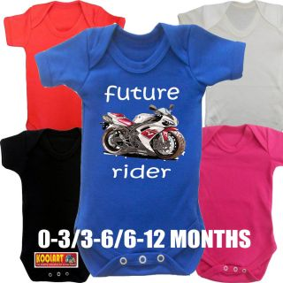 Koolart 2404 Yamaha R1 Bike Baby Grow Boy Girl Babies Clothes Gift Funny Cool