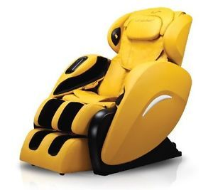New Fujita SMK9070 Massage Chair Leatherett Zero Gravity Recliner Yellow