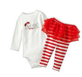 Carters Baby Girl Clothes 2 Piece Set Christmas Santa 3 6 9 12 18 24 Months