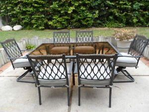Hampton Bay 7 Piece Melbourne Patio Dining Set 6 Chairs Table
