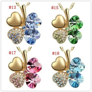Fashion of Swarovski Crystal Pendant Necklace Options 8 Colur 9554
