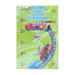 "Cars 1st Growth Chart Measures Child's Height Up to 59"" Room Decorations"