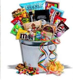Junk Food Candy Snack Party Gift Basket Perfect for Holiday Birthday Office