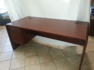 Office Desk Cherry Wood Finish Left Side Wing