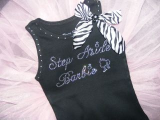 Boutique mozTREND Step Aside Barbie Crystal Rhinestone stellito Tank Top Shirt