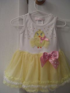 Bonnie Baby Girls 6 9 Month Chick Tutu Easter Dress Yellow