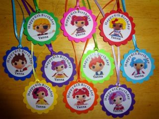 30 Lalaloopsy Dolls Personalized Gift Tags Birthday Party Favors Supply