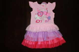New Hello Kitty Easter Girls Toddler Flower Tutu Dress Set Outfit Clothes 24M 2T