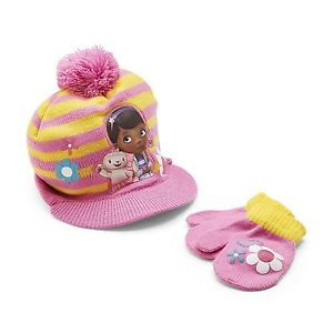 Disney Baby Doc McStuffins Toddler Girl's Knit Hat Mittens