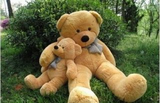 New 80cm Big Plush Sleepy Teddy Bear Huge Soft 100 Cotton Toys 4 Colours