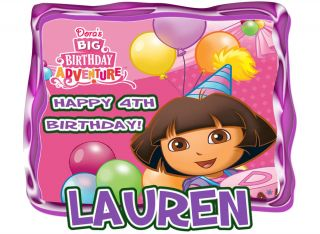 Dora The Explorer Clubhouse Birthday Party T Shirt Iron on Transfer Personalized