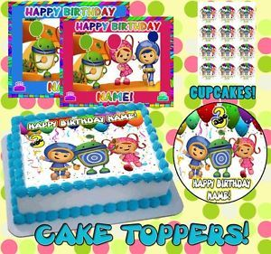 Team Umizoomi Birthday Cake Topper Edible Picture for Image Frosting Sheet