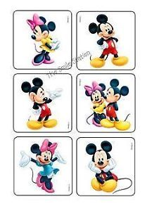12 Disney Mickey Minnie Mouse Temporary Tattoos Kid Party Goody Bag Favor Supply