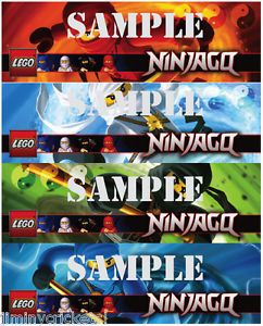 Lego Ninjago Bookmarks Birthday Party Favor Supplies Mixed Characters
