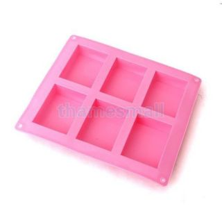 Home Silicone 6 Cavity Mini Loaf Bread Mold Tray Cake Baking Pan Party Food DIY