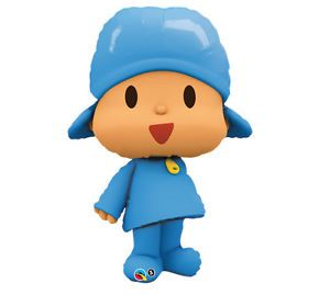 "Pocoyo Pocoyó Blue Large Figure 42"" Happy Birthday Party Supplies Mylar Balloon"