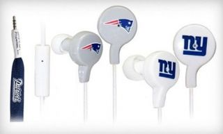 Official Licensed iHip NFL Tangle Free Shoelace Earbuds with Mic Professional