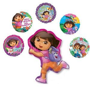 Deluxe Dora The Explorer Happy Birthday Balloons Set Party Supplies Diego New