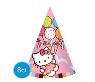 Hello Kitty Birthday Party Hats Balloon Dreams Table Party Supplies 8 Ct New