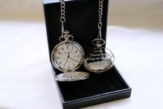 Personalised Pocket Watch Dad Daddy Grandad Gramps Papa Uncle Fathers Day Gift