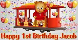 First 1st Birthday Daniel Tiger's Edible Cake Topper Image Decorations