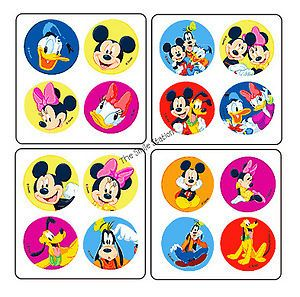 48 Mickey Mouse Clubhouse Dot Stickers Kid Birthday Party Goody Bag Favor Supply
