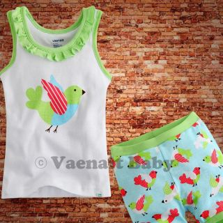 "Vaenait Baby Kids Girl Clothes Top Shorts Outfit Sets""One Point Green"" 4 5Y"