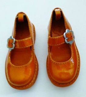 Baby Gap Girl's Shoes Orange Patent Leather Sz 6 Mary Janes Halloween