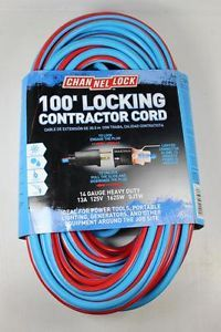 Channel Lock 100' Locking Heavy Duty Contractor Extension Cord