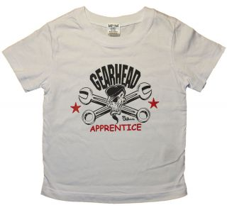 Baby RAB GearHead Hot Rod Toddler Tee White