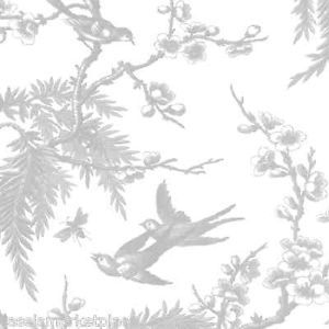 Caspari 2 5' Rolls Chinoiserie Silver Gift Wrap Continuous Wrapping Paper